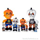 Halloween Zombie Characters Plush Toys - 4 Assorted (20cm)